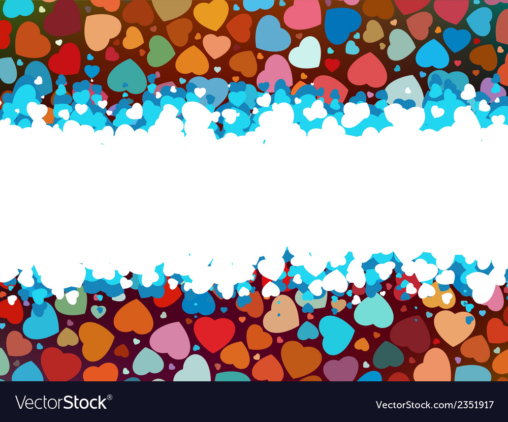 Beautiful colorful heart shape background eps 8 vector | Price: 1 Credit (USD $1)
