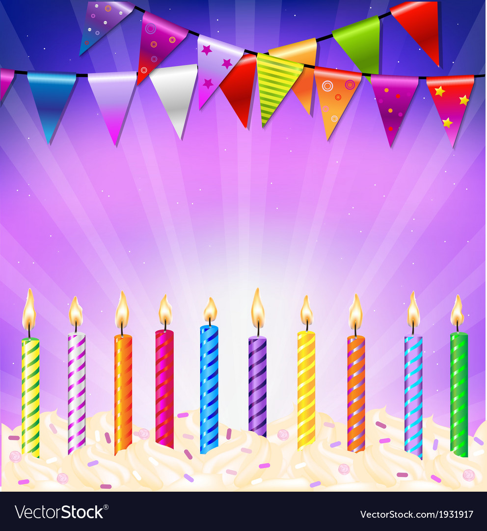 Happy birthday candles vector | Price: 1 Credit (USD $1)