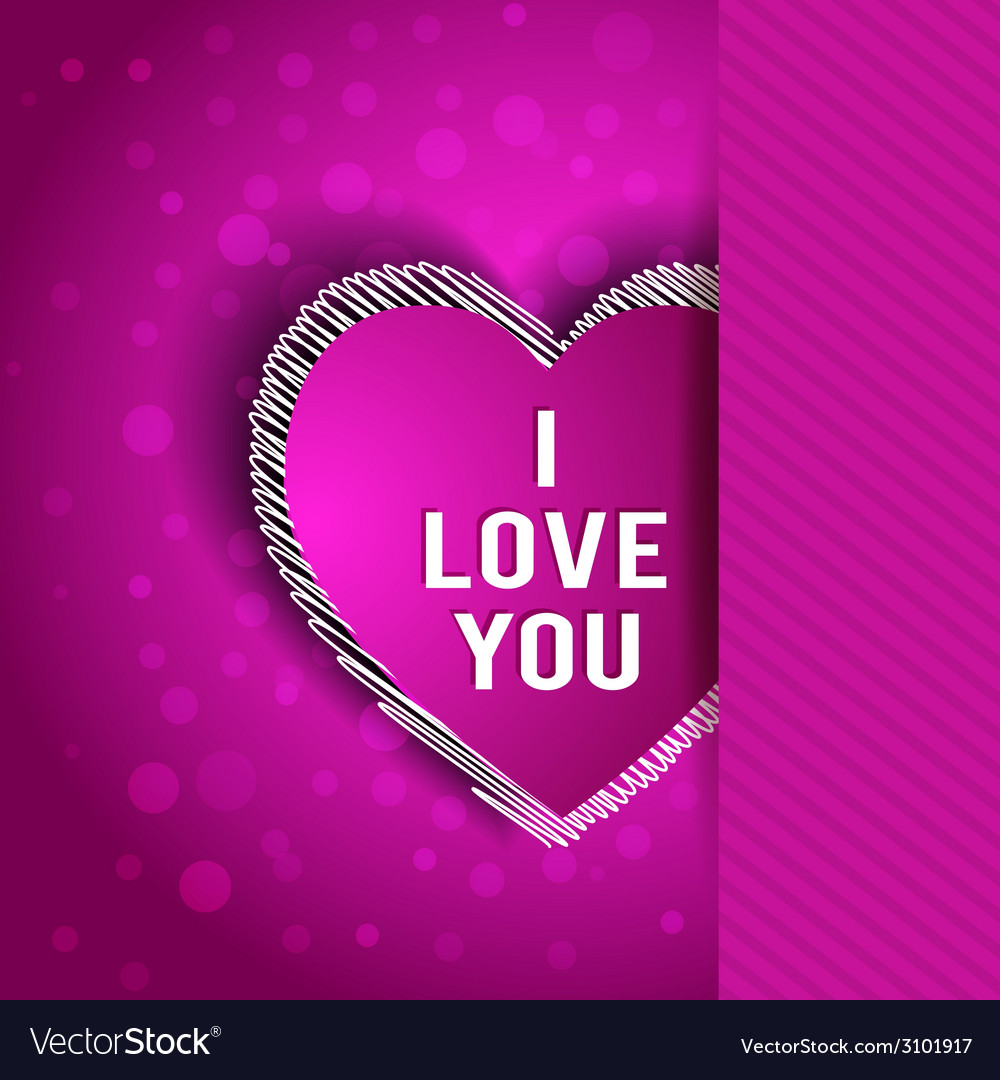 I love you greeting card vector | Price: 1 Credit (USD $1)