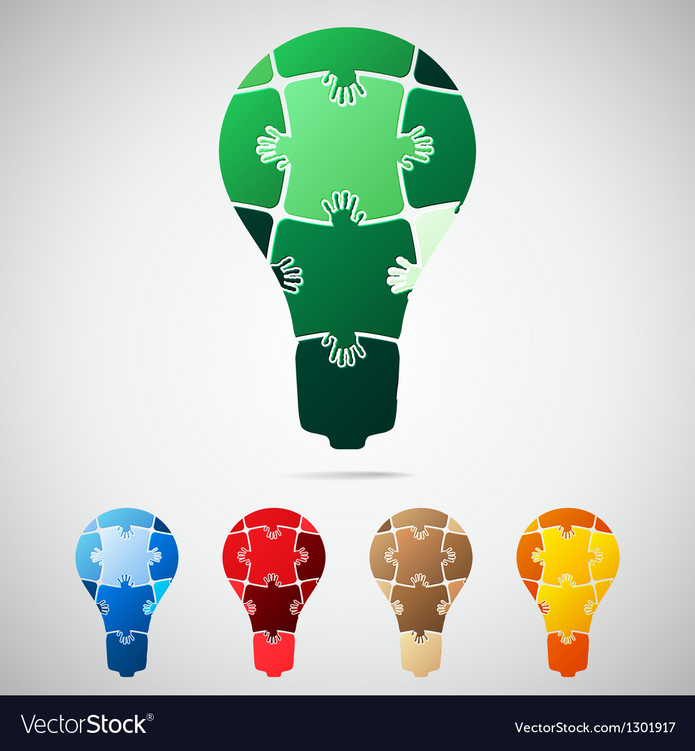 Lamp from puzzle pieces vector | Price: 1 Credit (USD $1)
