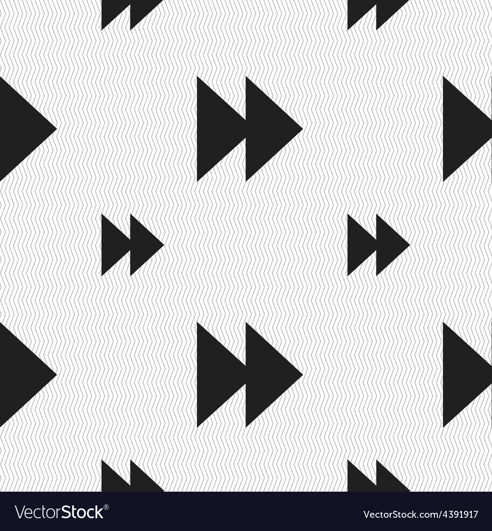 Rewind icon sign seamless pattern with geometric vector | Price: 1 Credit (USD $1)