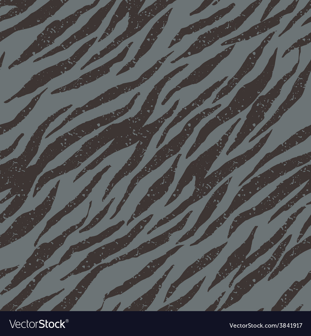 Zebra tiger stripes seamless grunge pattern in vector | Price: 1 Credit (USD $1)