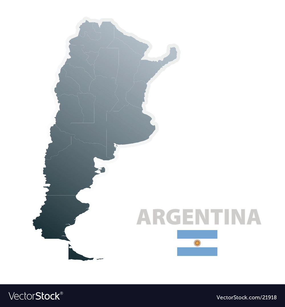 Argentina map with official flag vector | Price: 1 Credit (USD $1)