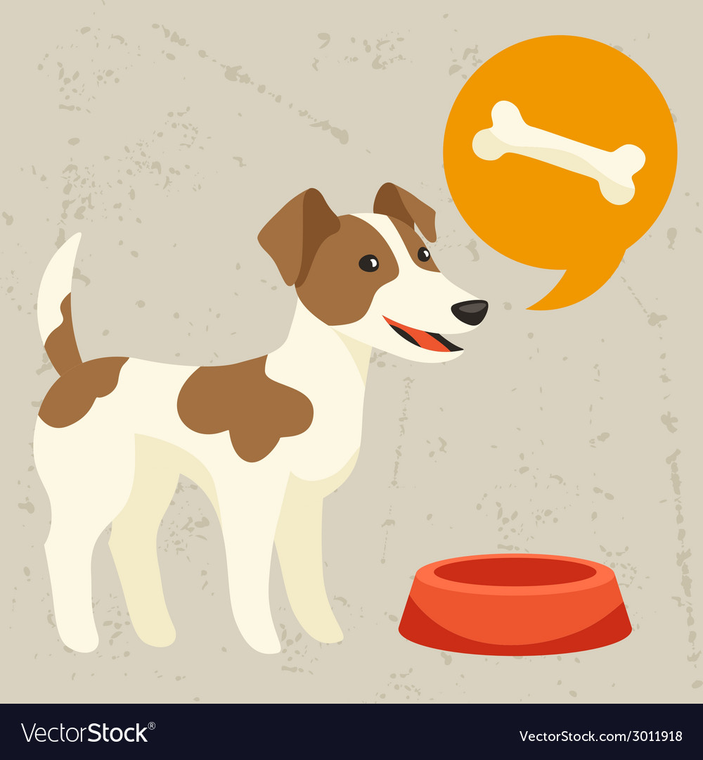 Background with dog says he wants to eat vector | Price: 1 Credit (USD $1)