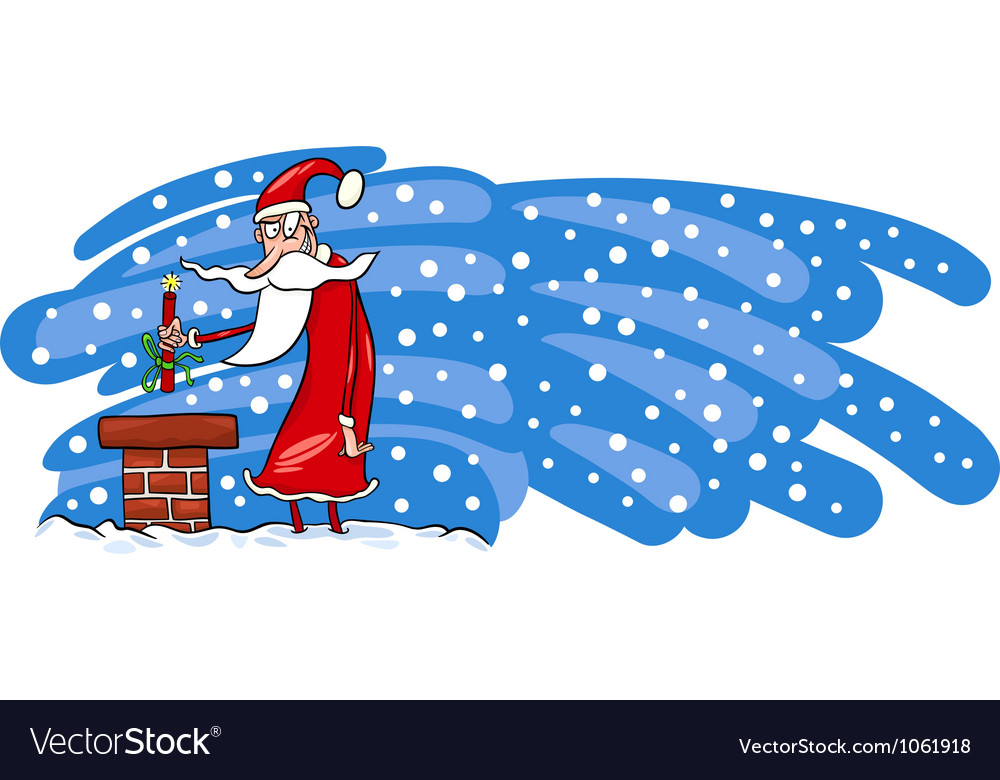 Bad santa claus cartoon card vector | Price: 1 Credit (USD $1)