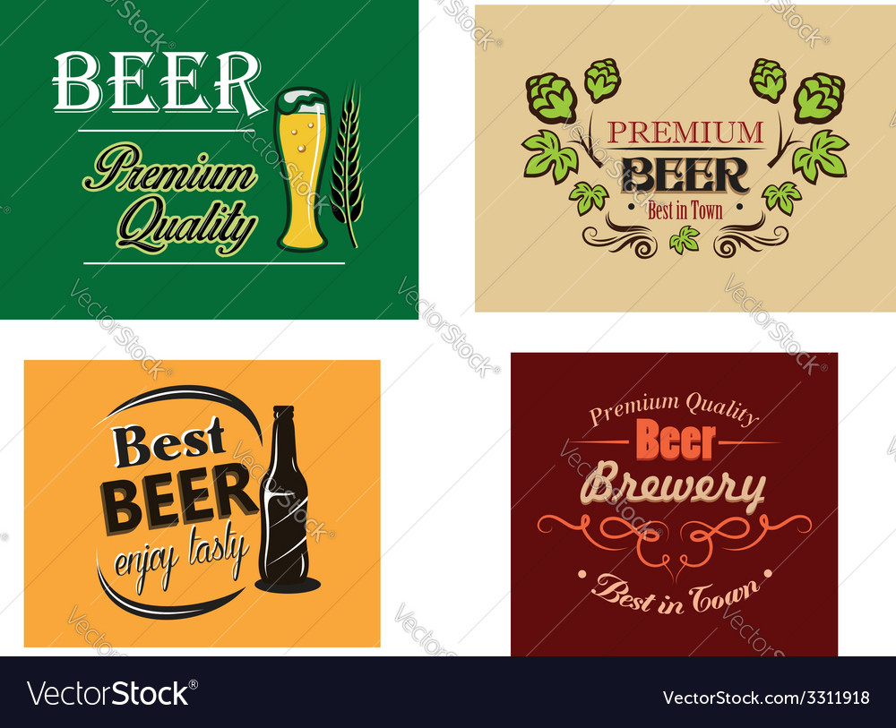 Beer advertising posters vector | Price: 1 Credit (USD $1)