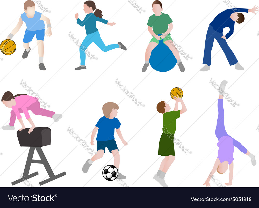 Children sport vector | Price: 1 Credit (USD $1)