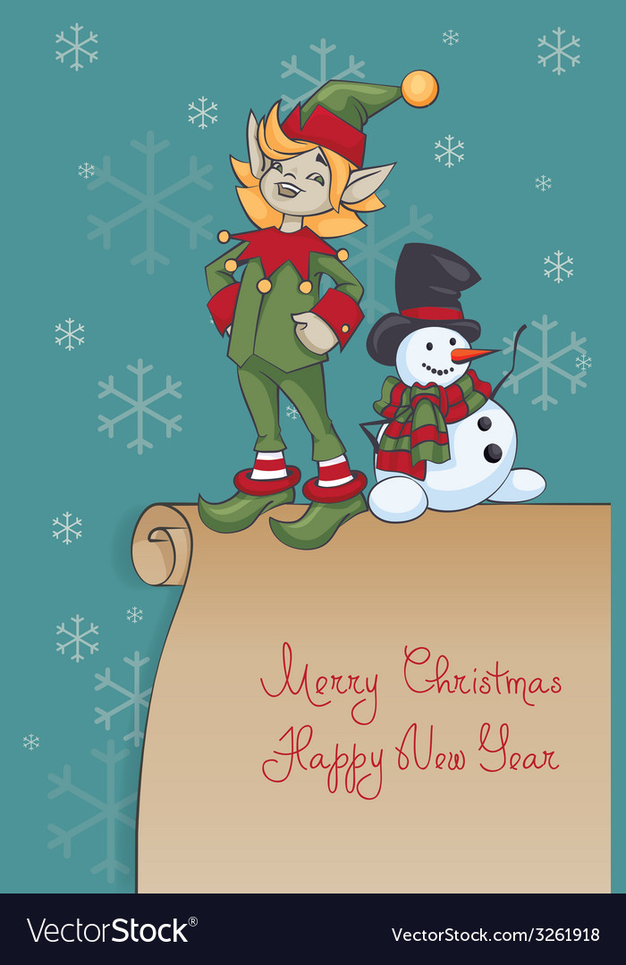 Christmas santa elf design vector | Price: 1 Credit (USD $1)