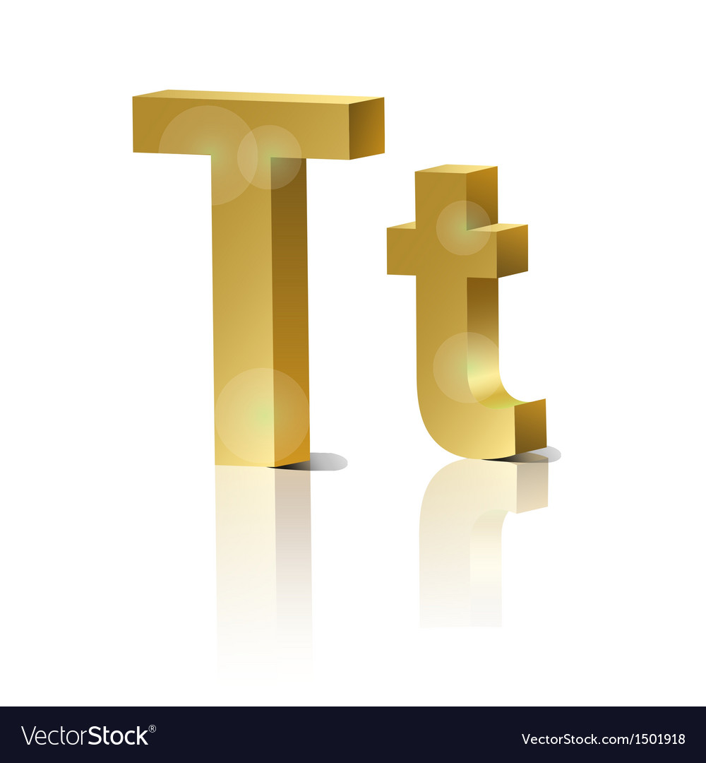 Golden letter t vector | Price: 1 Credit (USD $1)