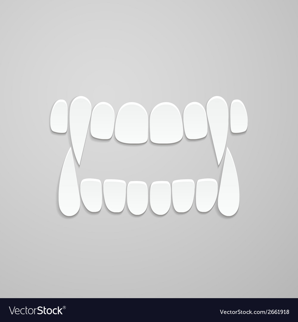 Jaw with canines vector | Price: 1 Credit (USD $1)
