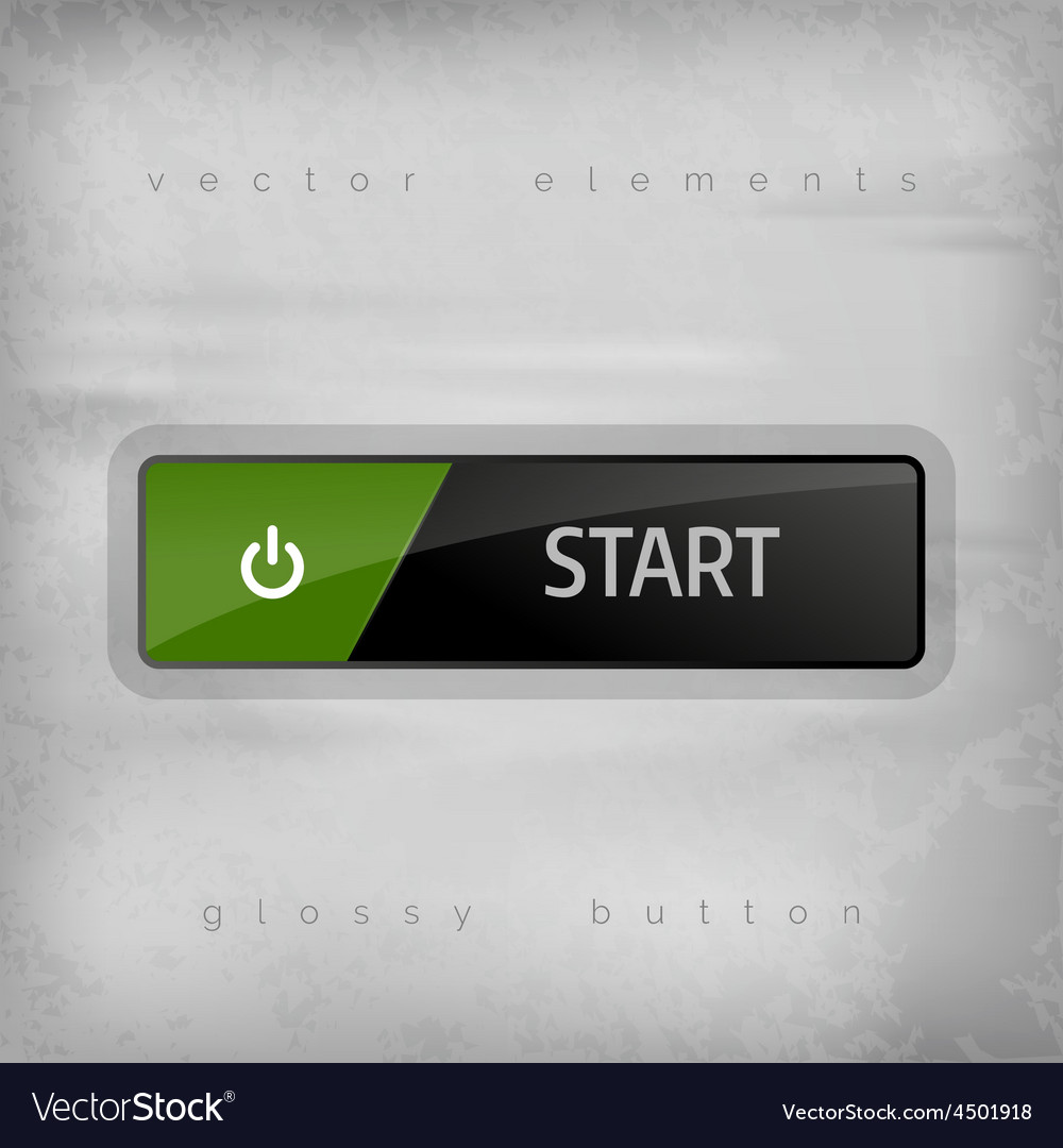 Start button vector | Price: 1 Credit (USD $1)