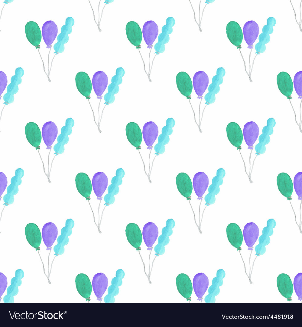 Watercolor seamless pattern with air baloons on vector | Price: 1 Credit (USD $1)