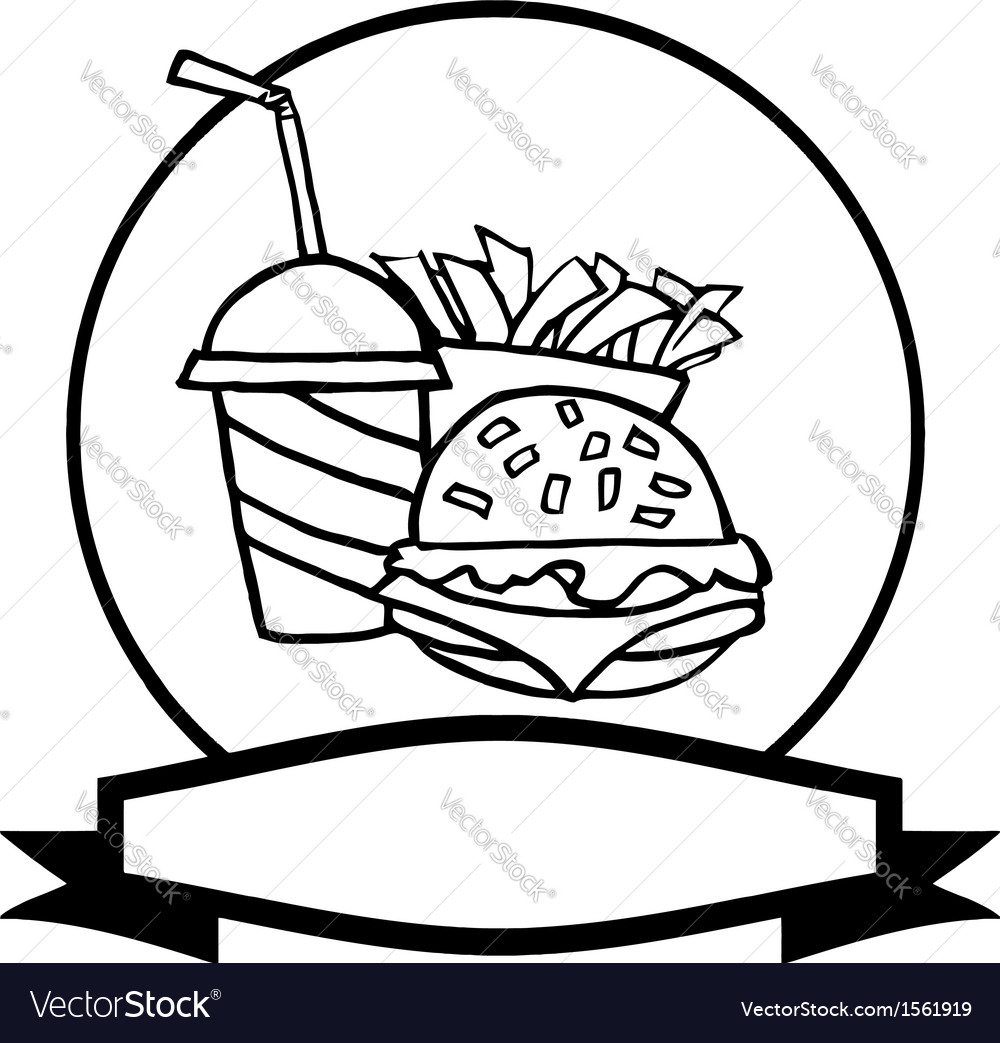 Cartoon burger meal vector | Price: 1 Credit (USD $1)