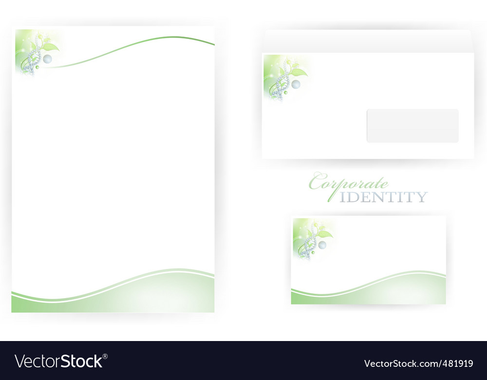 Corporate identity templates with dna vector | Price: 1 Credit (USD $1)