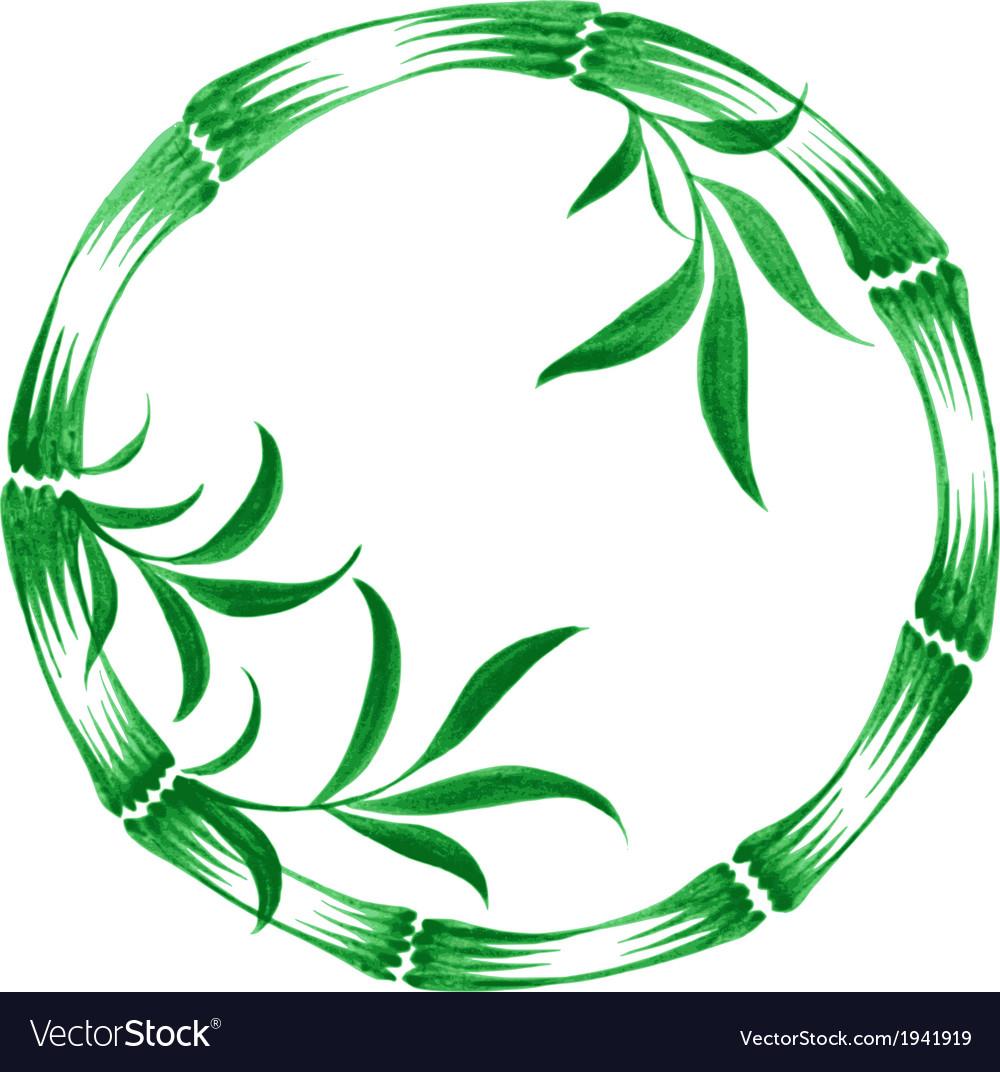 Decorative circle bamboo vector   Price: 1 Credit (USD $1)