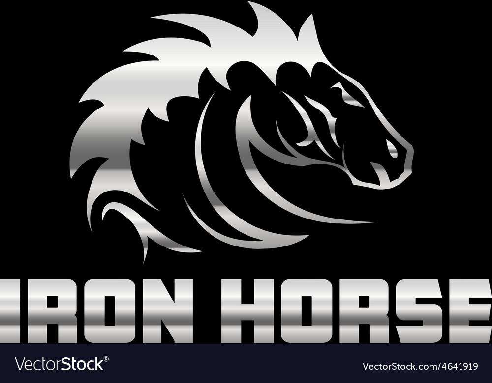 Head of agreesive iron horse vector | Price: 1 Credit (USD $1)