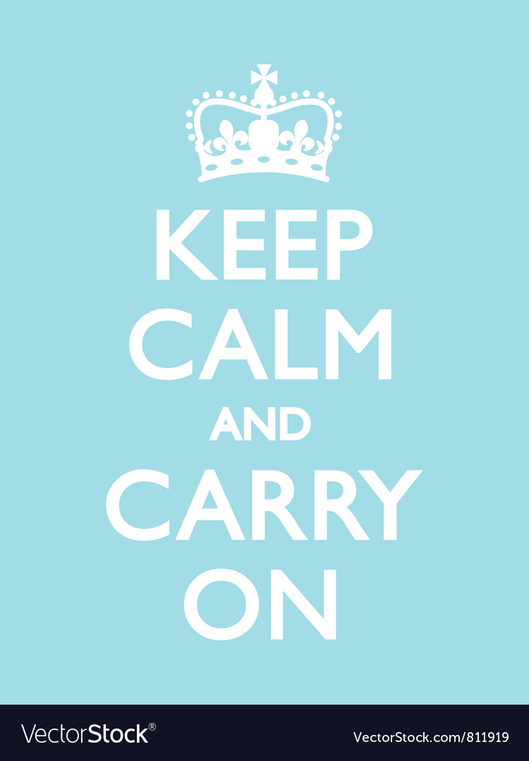Keep calm carry on duck egg vector | Price: 1 Credit (USD $1)