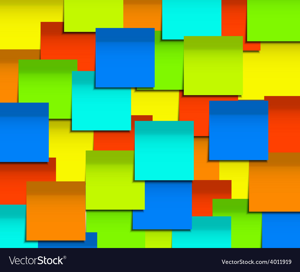 Modern square sticky note background vector | Price: 1 Credit (USD $1)