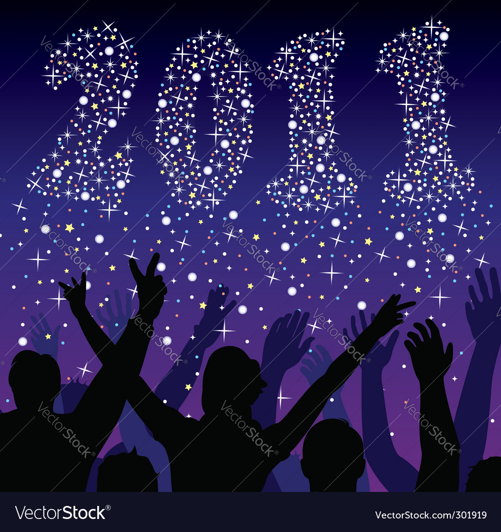 New year 2011 numbers vector | Price: 1 Credit (USD $1)