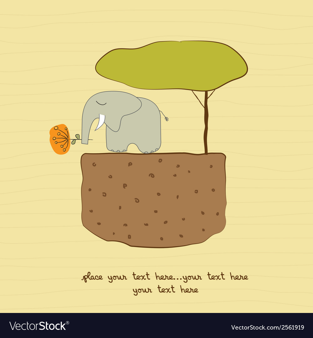 One little elephant vector | Price: 1 Credit (USD $1)