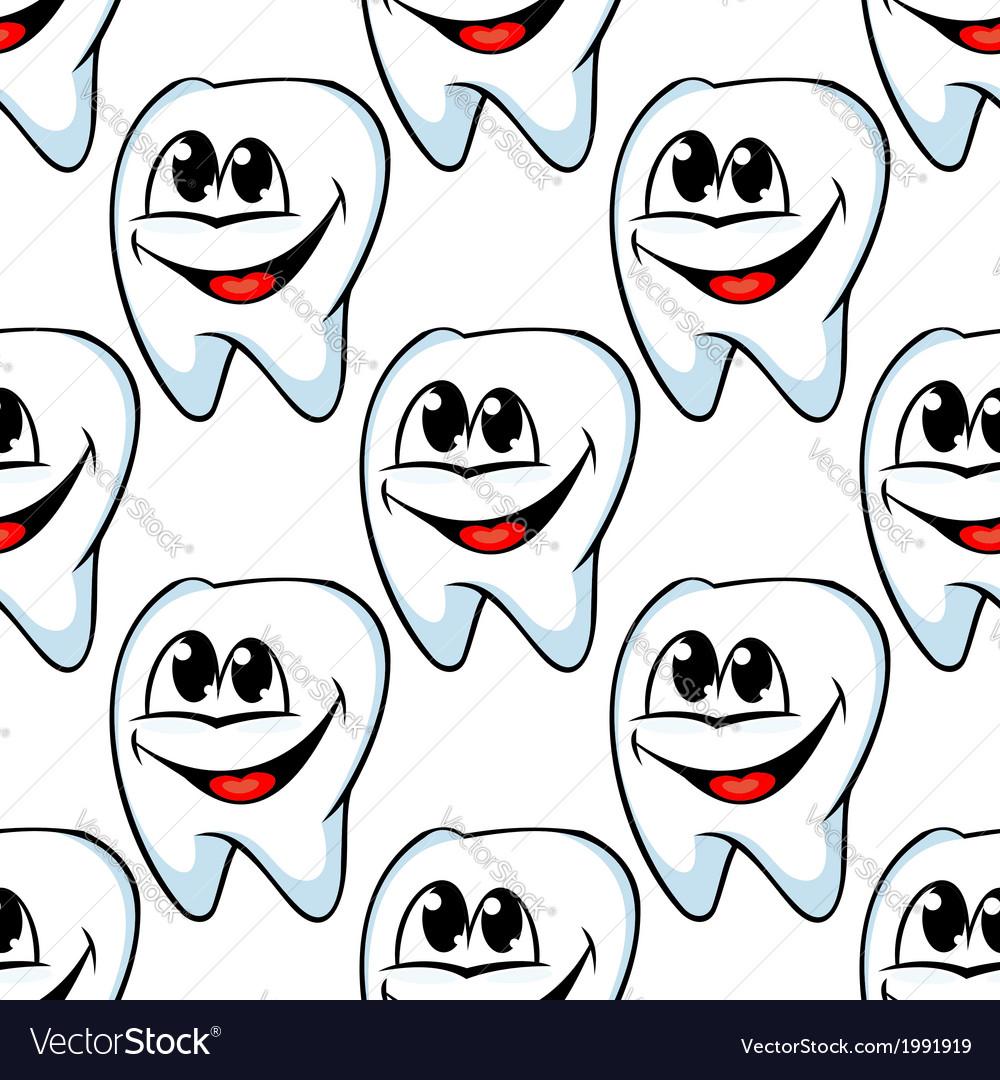 Repeat pattern of happy healthy teeth vector | Price: 1 Credit (USD $1)