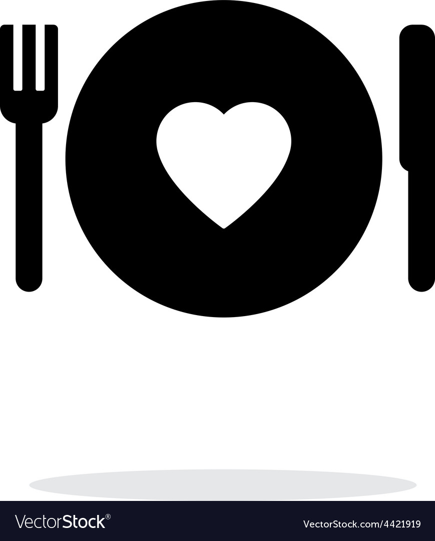 Romantic dinner icon on white background vector