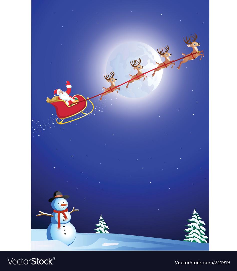 Santa background vector