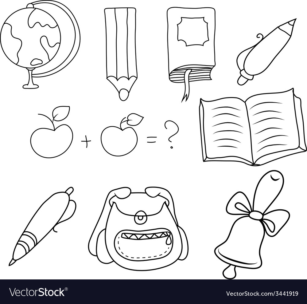 School - doodles collection vector   Price: 1 Credit (USD $1)