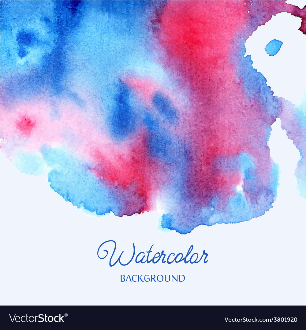 Abstract hand drawn watercolor background vector   Price: 1 Credit (USD $1)