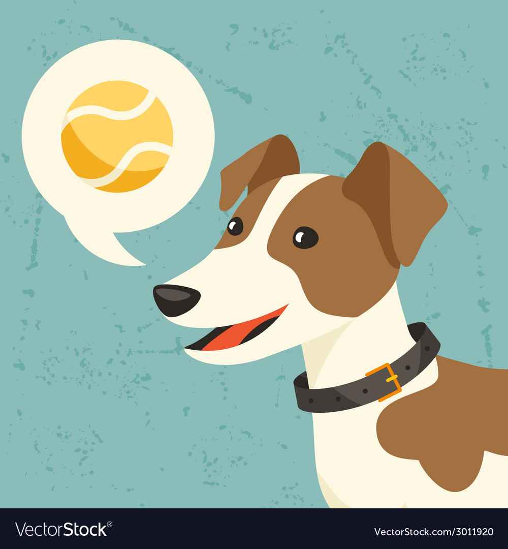 Background with dog says he wants to play vector | Price: 1 Credit (USD $1)