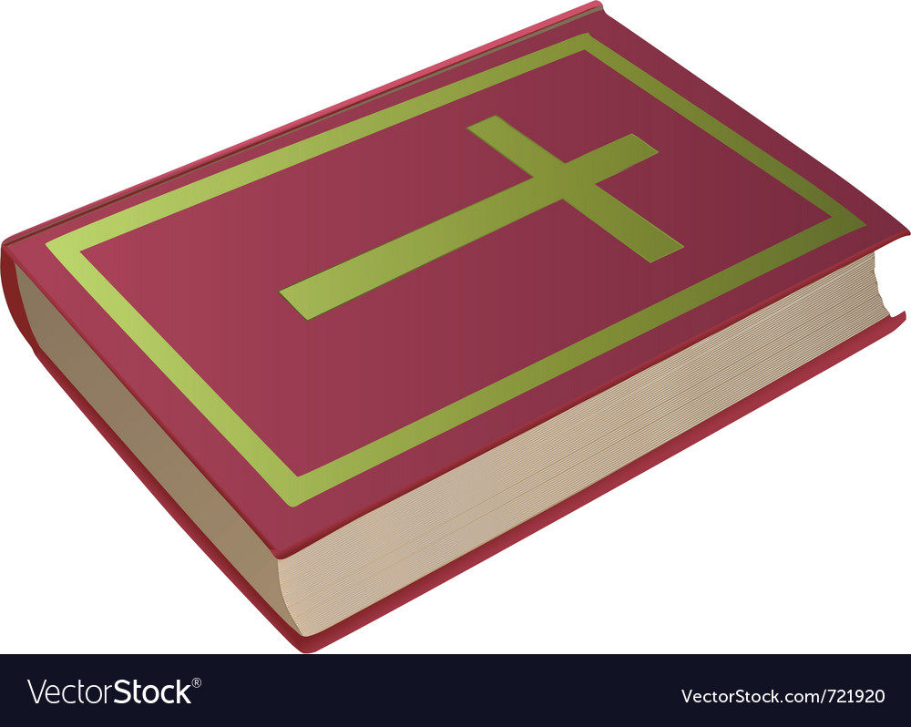 Bible with cross on cover vector | Price: 1 Credit (USD $1)