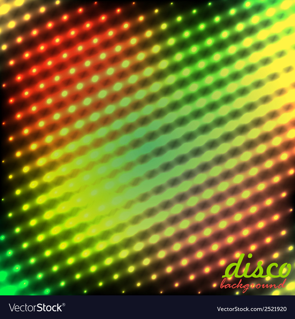 Disco background green red color vector | Price: 1 Credit (USD $1)