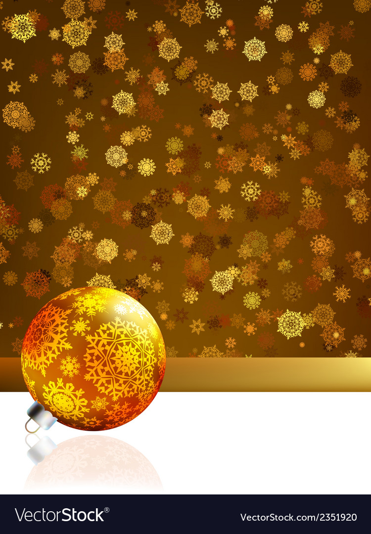 Gold happy christmas cardwinter background eps 8 vector | Price: 1 Credit (USD $1)