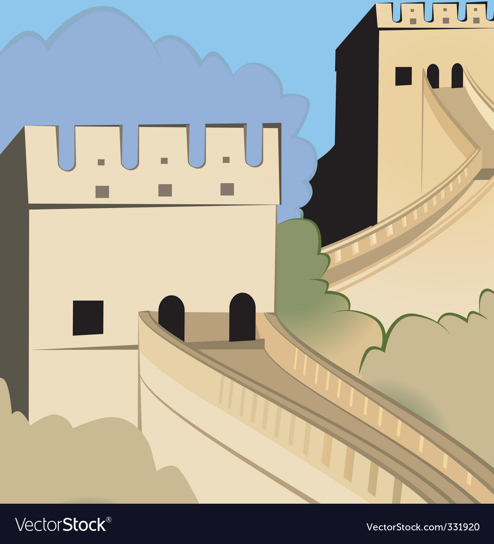 Great wall of china vector | Price: 1 Credit (USD $1)