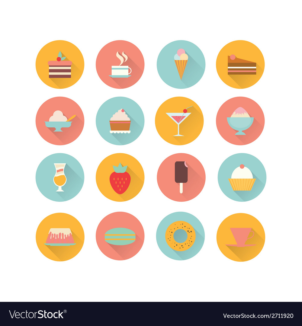 Icons dessert vector | Price: 1 Credit (USD $1)