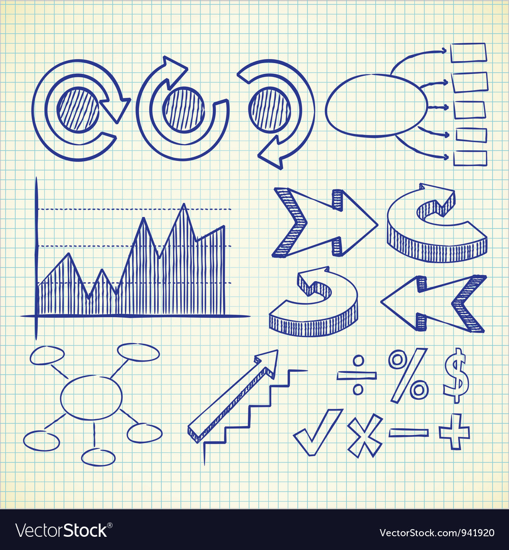 Info chart doodle vector | Price: 1 Credit (USD $1)