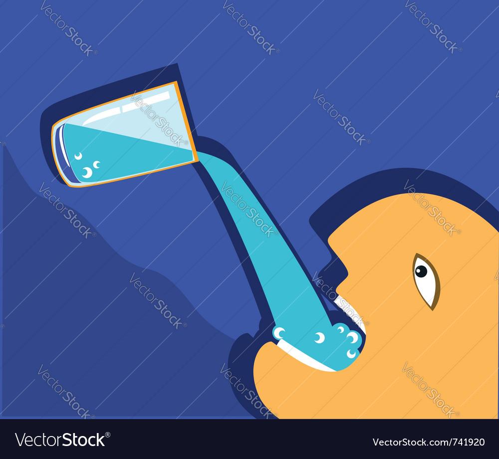 Man drinking glass vector | Price: 1 Credit (USD $1)