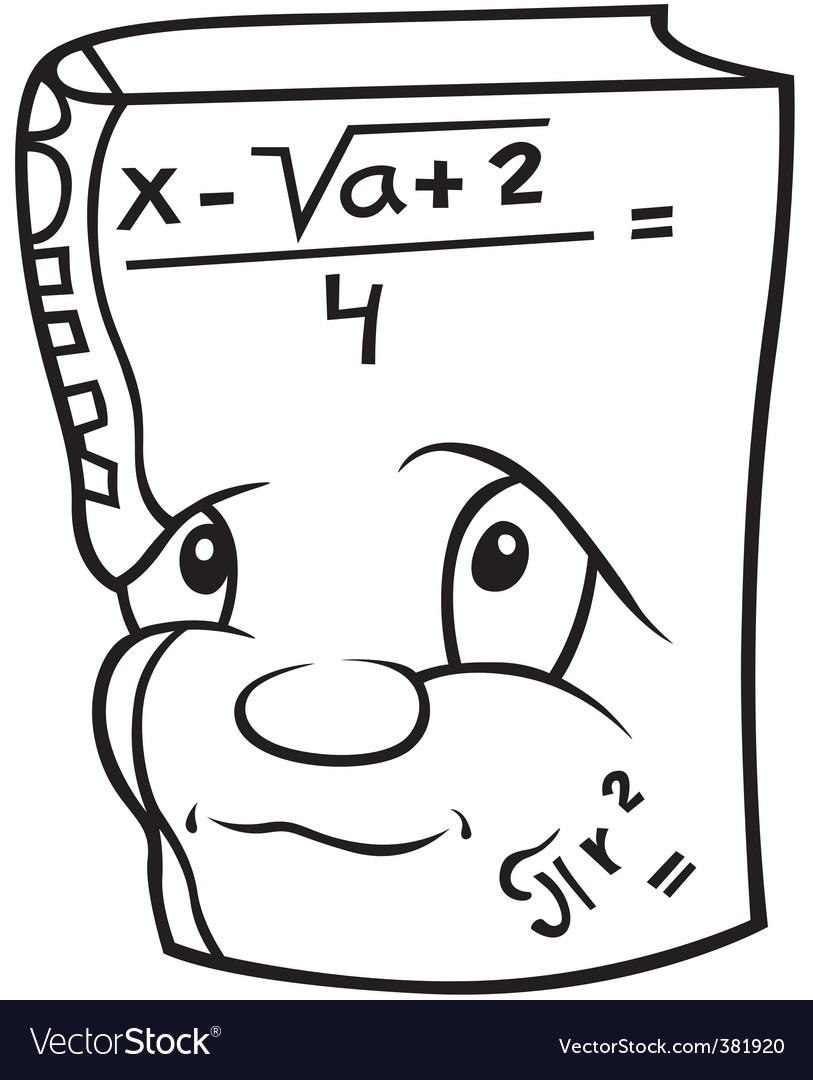Mathematics book vector | Price: 1 Credit (USD $1)