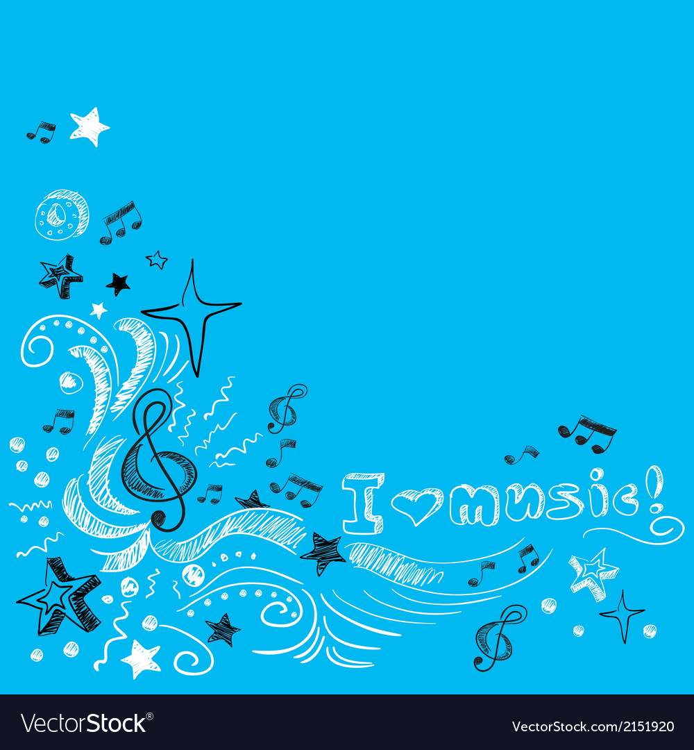 Music doodle background vector | Price: 1 Credit (USD $1)
