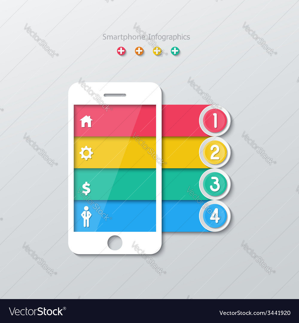 Paper smartphone infographics vector   Price: 1 Credit (USD $1)