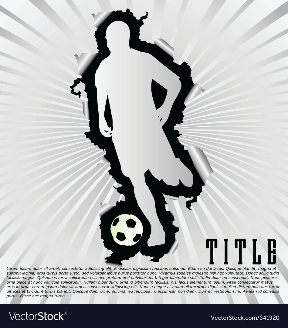 Soccer silhouette break through white background vector | Price: 1 Credit (USD $1)