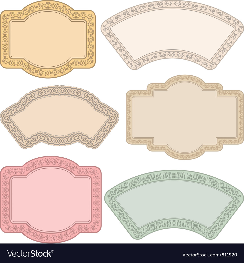 Vintage background with ornaments vector | Price: 1 Credit (USD $1)