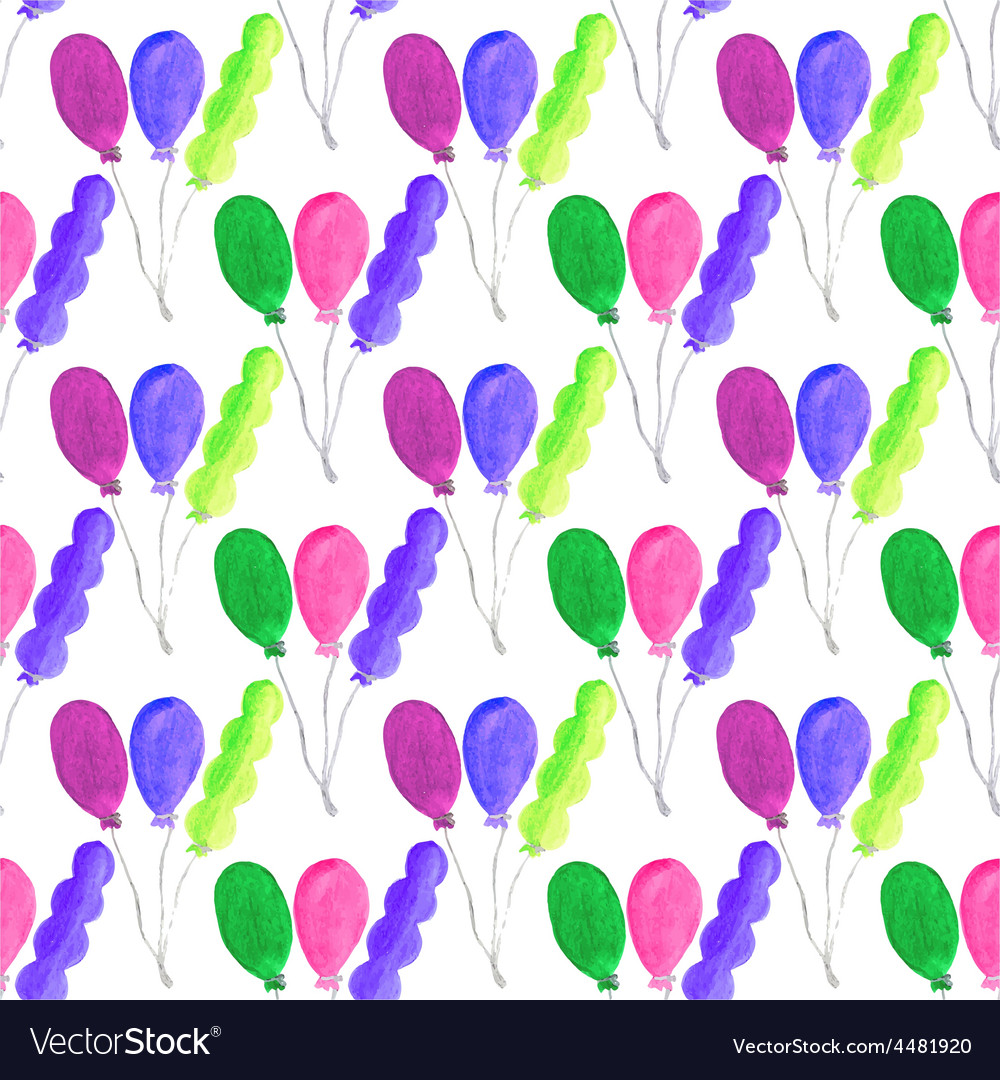 Watercolor seamless pattern with air baloons on vector   Price: 1 Credit (USD $1)