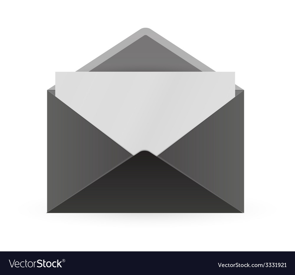 Black envelope and paper vector | Price: 1 Credit (USD $1)