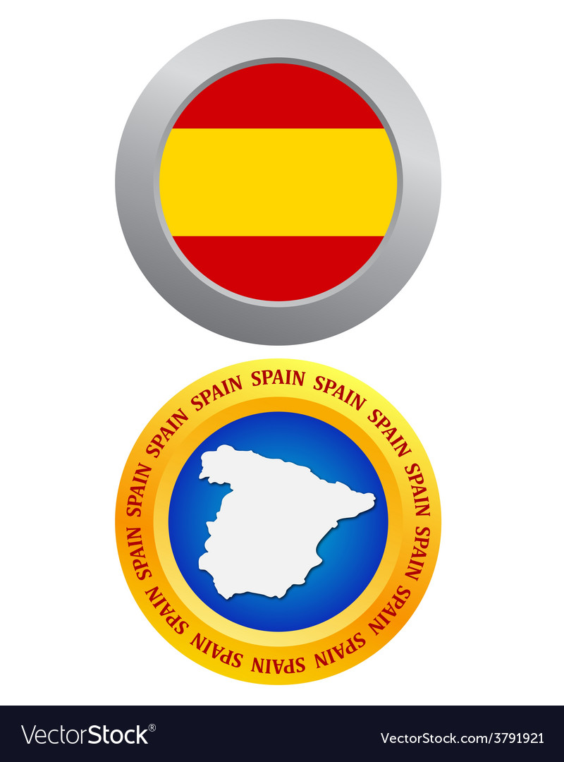Button as a symbol of spain vector | Price: 1 Credit (USD $1)