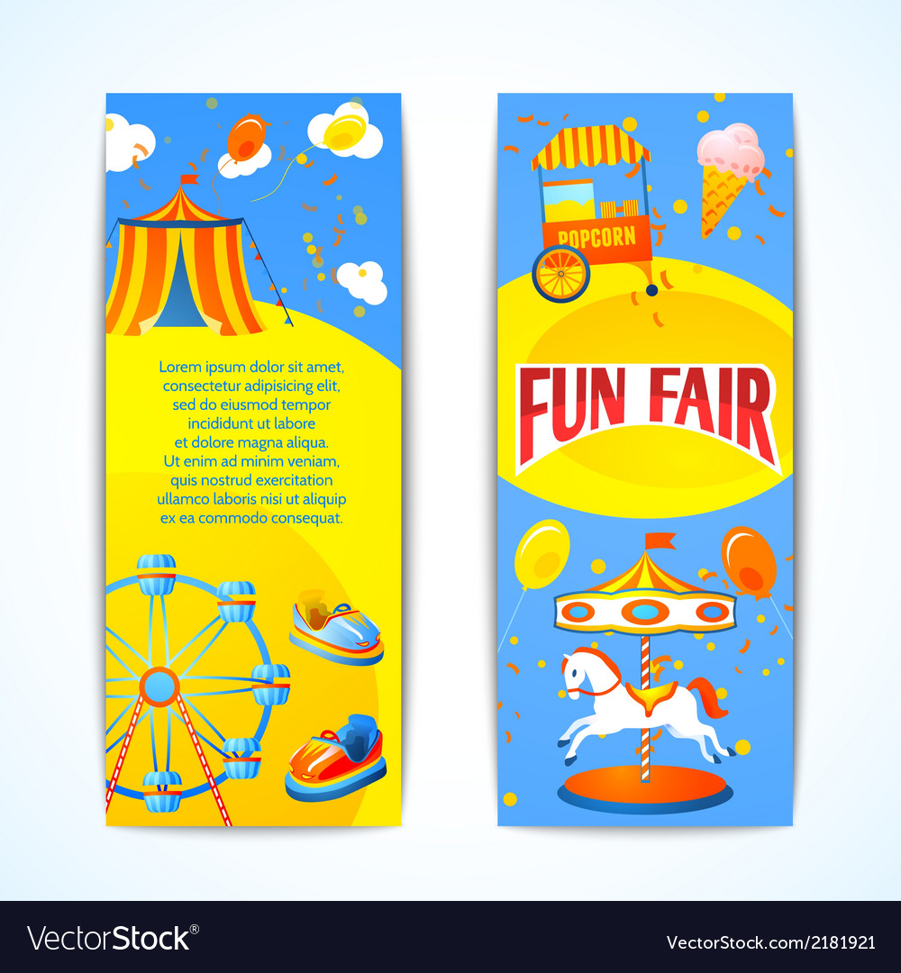 Carnival banners vertical vector | Price: 1 Credit (USD $1)