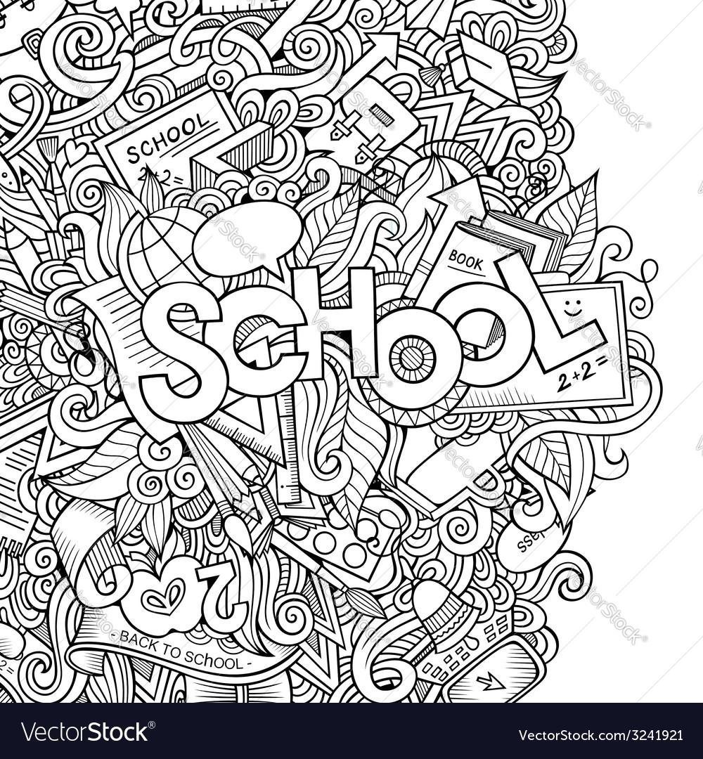 Cartoon school sketch background vector   Price: 1 Credit (USD $1)
