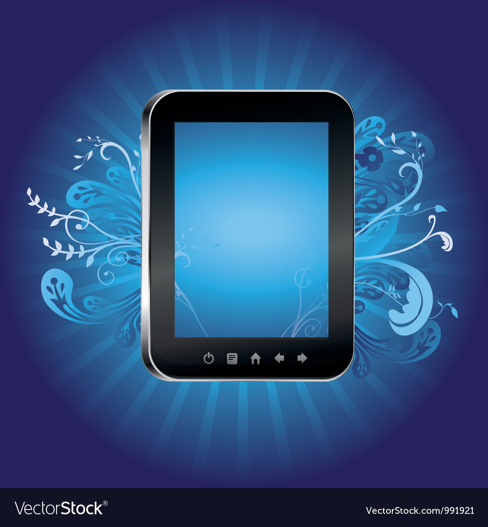 Concept with tablet pc with empty screen vector | Price: 1 Credit (USD $1)