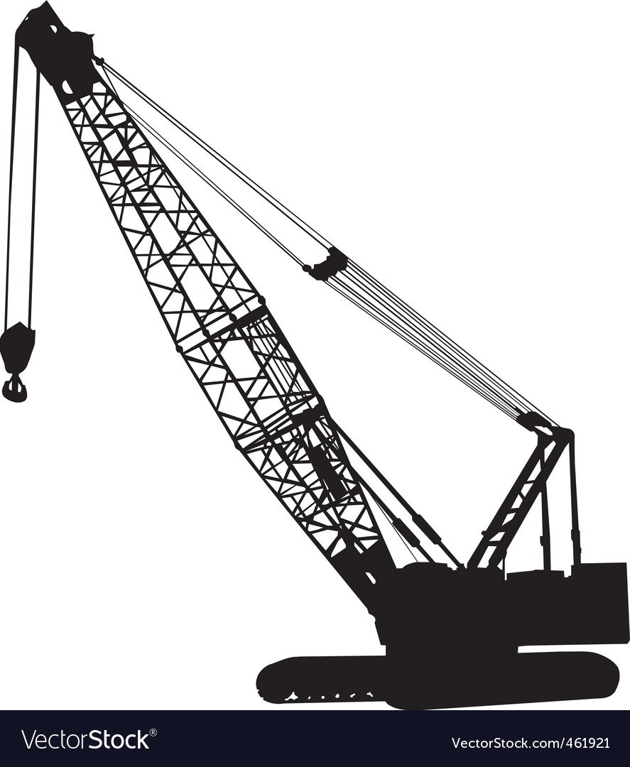 Crawler crane vector | Price: 1 Credit (USD $1)