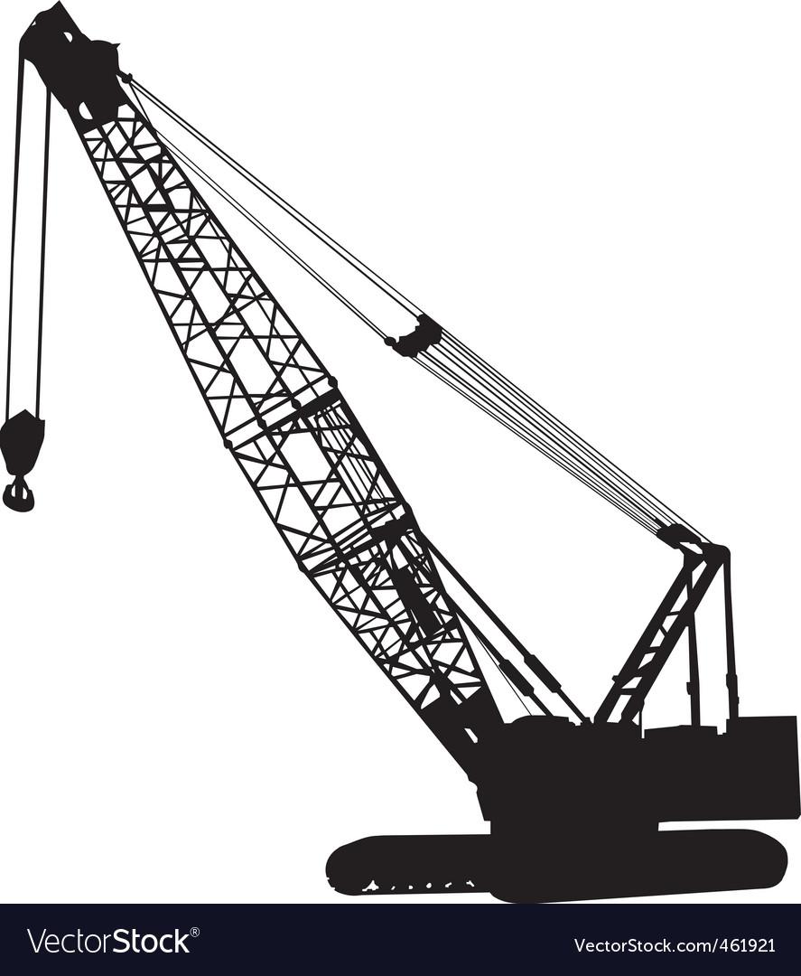 Crawler crane vector | Price: 1 Credit (USD $1)